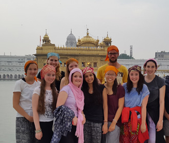 Volunteer group at the Golden Temple in Amritsar