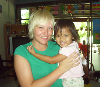 Childcare volunteering in Surin, Thailand