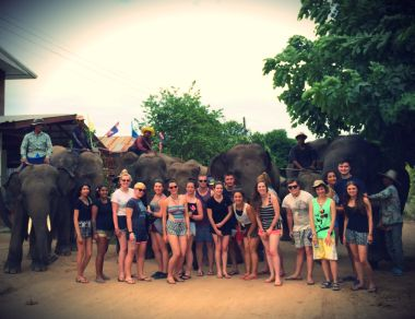 thailand elephant volunteers in surin