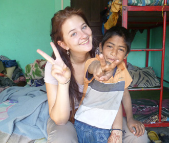 Volunteer in a childcare project in Nepal