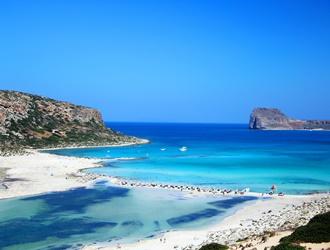 Beautiful beach on Crete island in Greece
