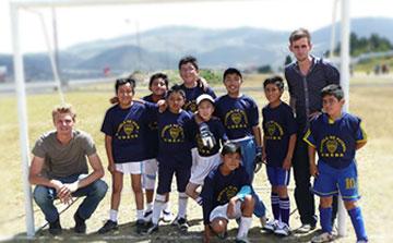 Programa de Voluntarios Cursos de fútbol en Ecuador