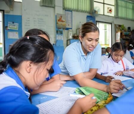 Enseñanza voluntaria en Bangkok Tailandia