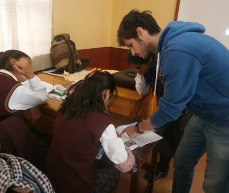 Enseñanza voluntaria de inglés en Cusco, Perú