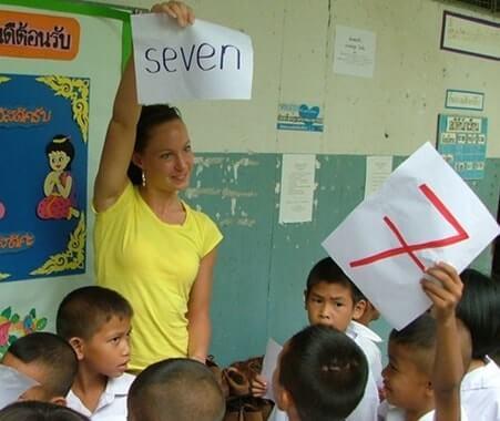 Enseñanza voluntaria en Surin Tailandia