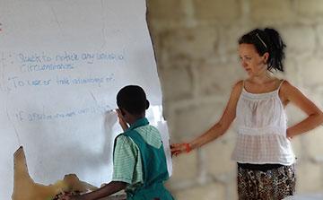 Ensino Voluntário em Gana