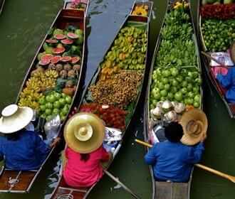 Damnoen Saduak Floating Market Half Day Joining Tour