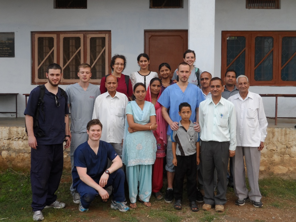 Volsol Interns with local staff in Palampur India