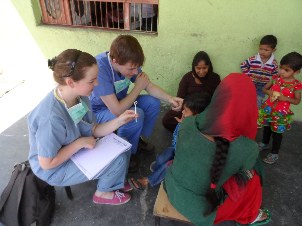 Volunteering solutions intern with local people in Palampur