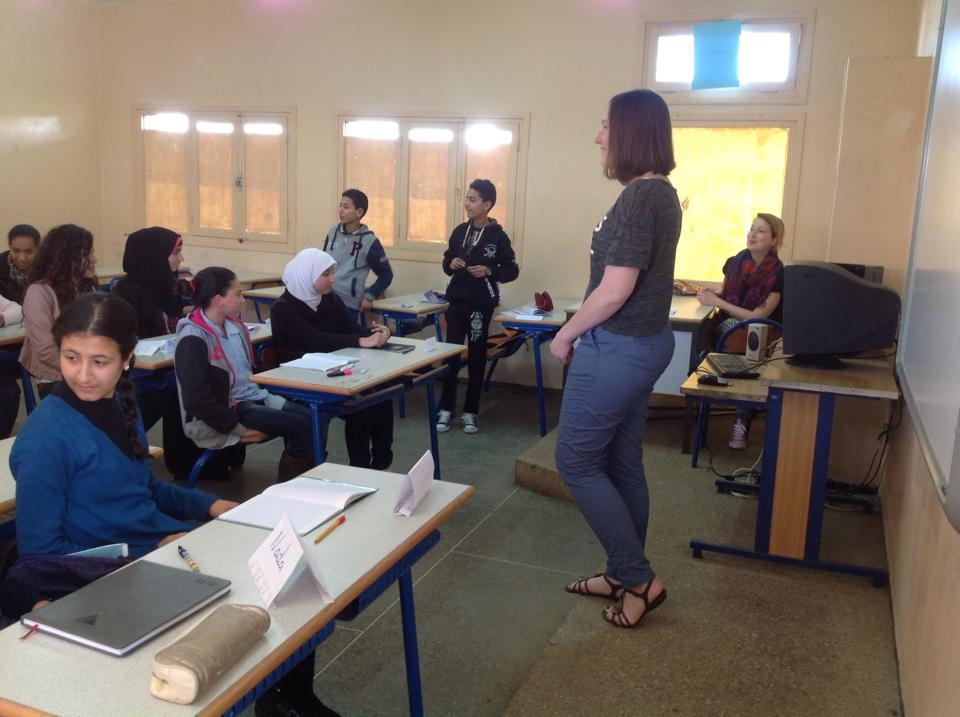 Teaching english volunteering in Morocco
