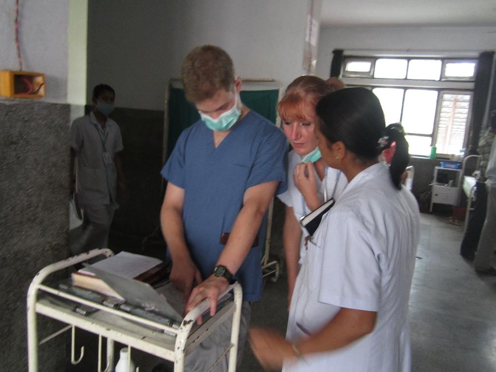 Interns during their medical internship in Nepal