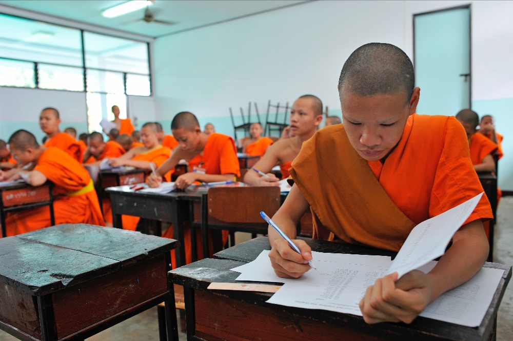 monks teaching in Chiang Mai thailand
