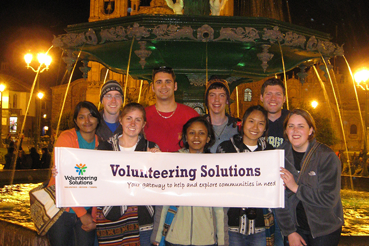 Pre Med student group from Georgia Tech University Students in Cusco, Peru>