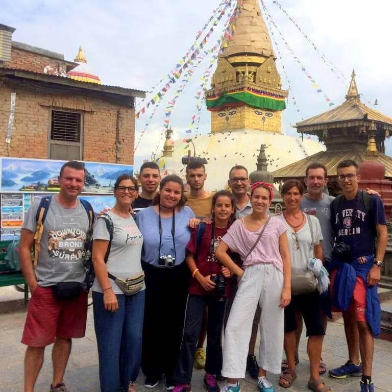 Voluntários aproveitando sua viagem de fim de semana em Kathmandu>