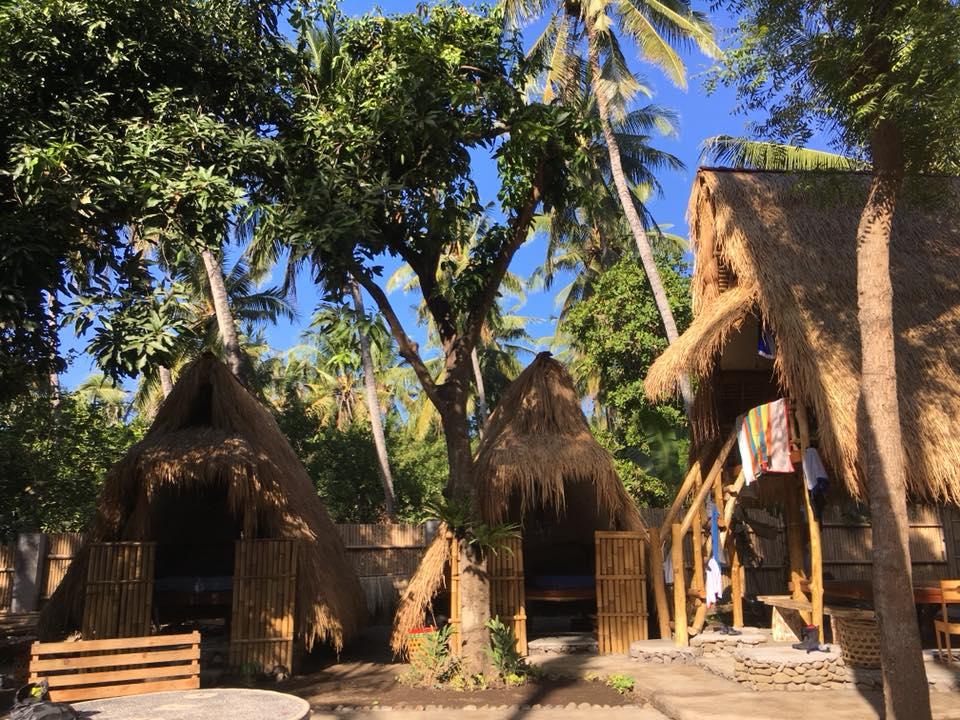 Bamboo Huts in Tianyar