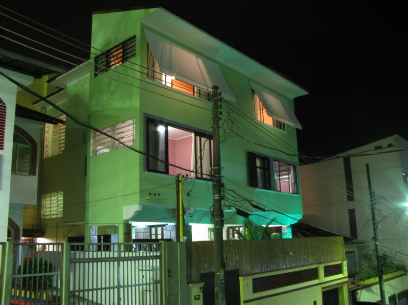Exterior view of one of the hostels where volunteers stay in Rio