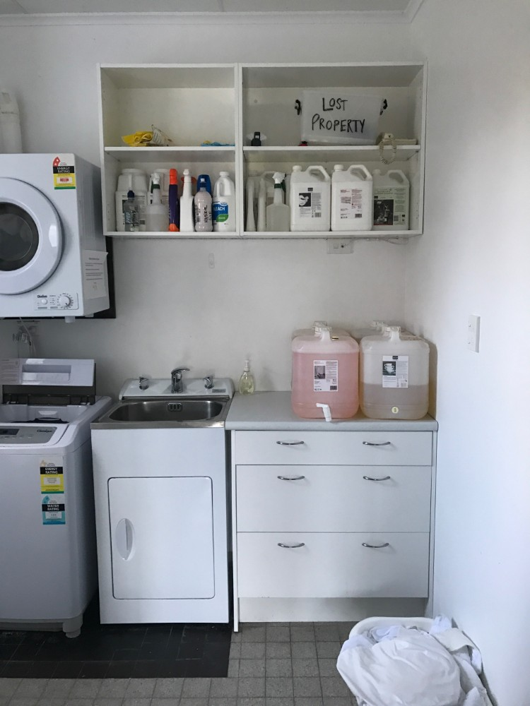 Laundry facilities at Atiu Creek Accommodation