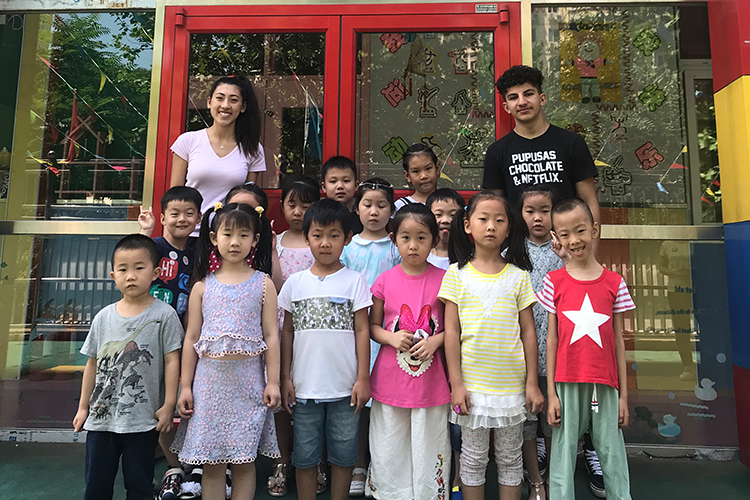 Students from Abraham Lincoln High School, USA in Beijing>