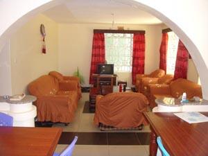 Common area for volunteers in the Volunteer house in Kenya