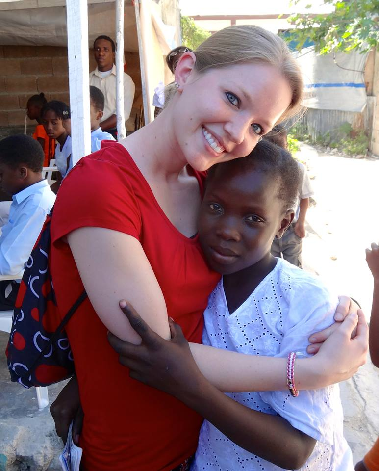 Jamie Stech at one of her volunteering projects