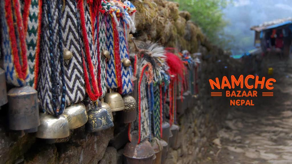 Namche-bazaar in nepal