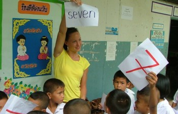 volunteer teaching program in Surin, Thailand