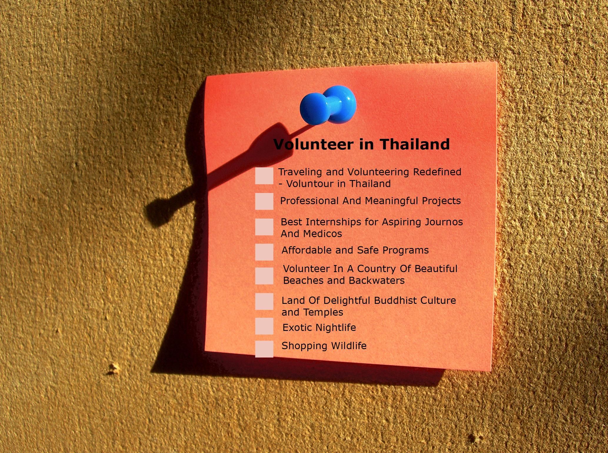 volunteer-in-thailand-checklist