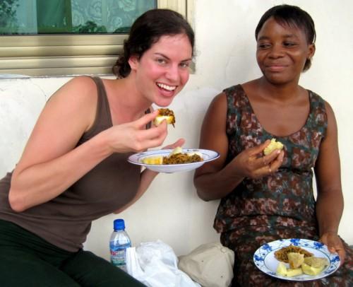 Taste local food in ghana