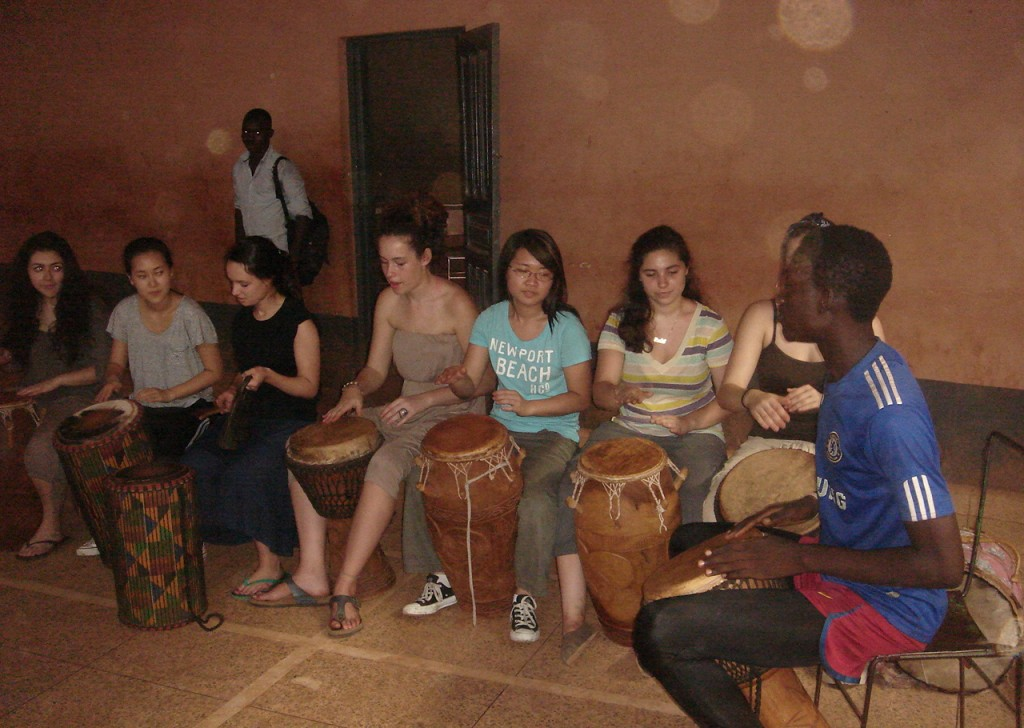 drum lesson in Ghana