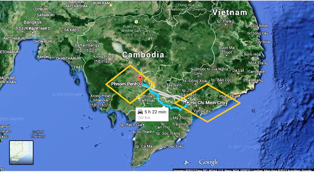 Phnom Penh – Ho Chi Minh City (Cambodia – Vietnam)