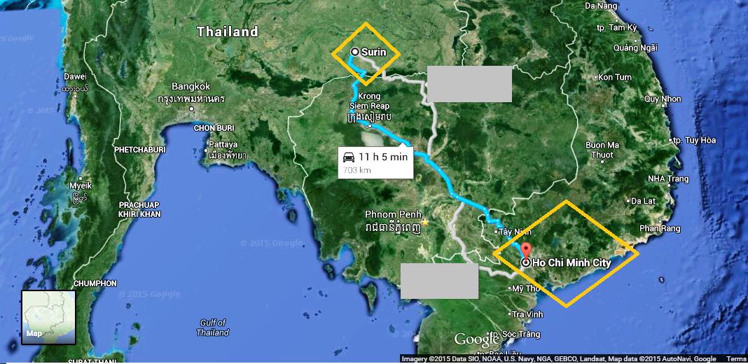 Surin – Ho Chi Minh City (Thailand – Vietnam)