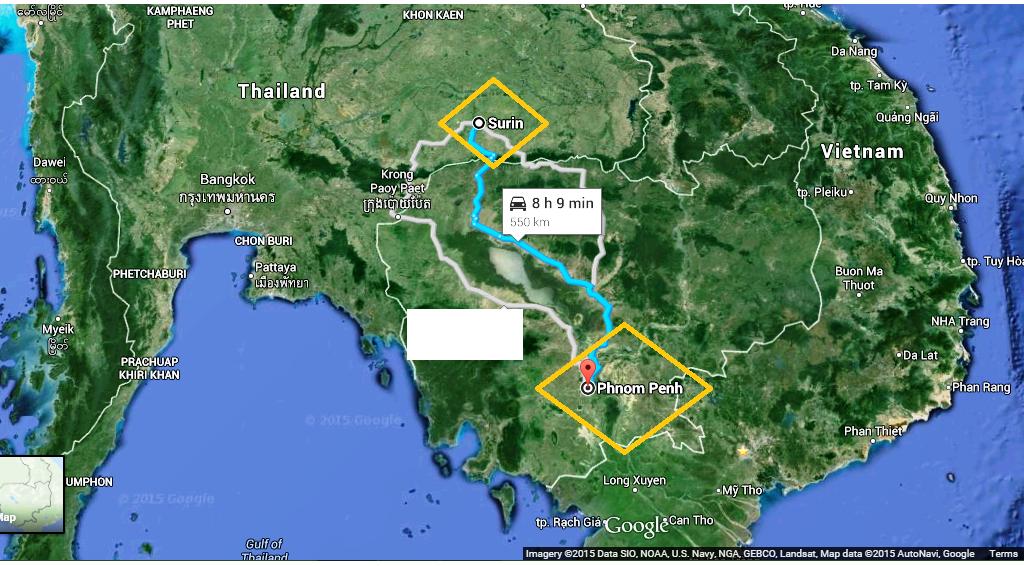Surin – Phnom Penh (Thailand – Cambodia)