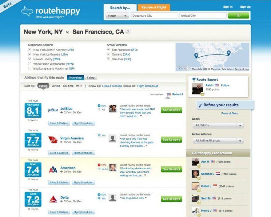 Routehappy App