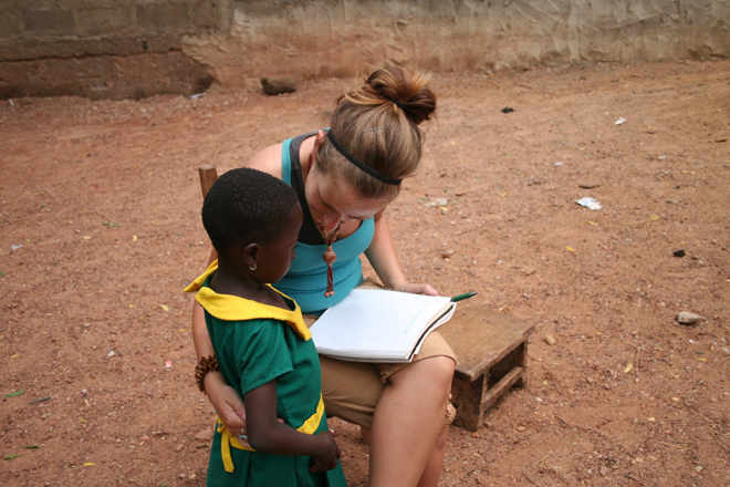 girl education in ghana with volsol
