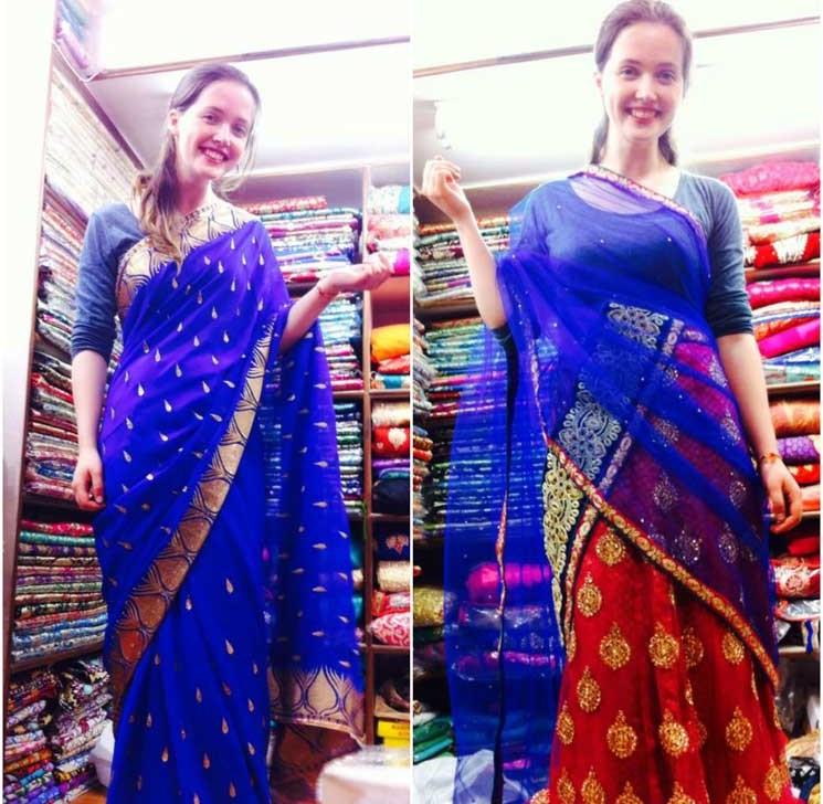 india-wearing