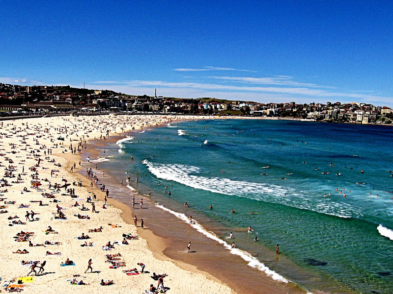 People-at-Bondi-Beach in Australia
