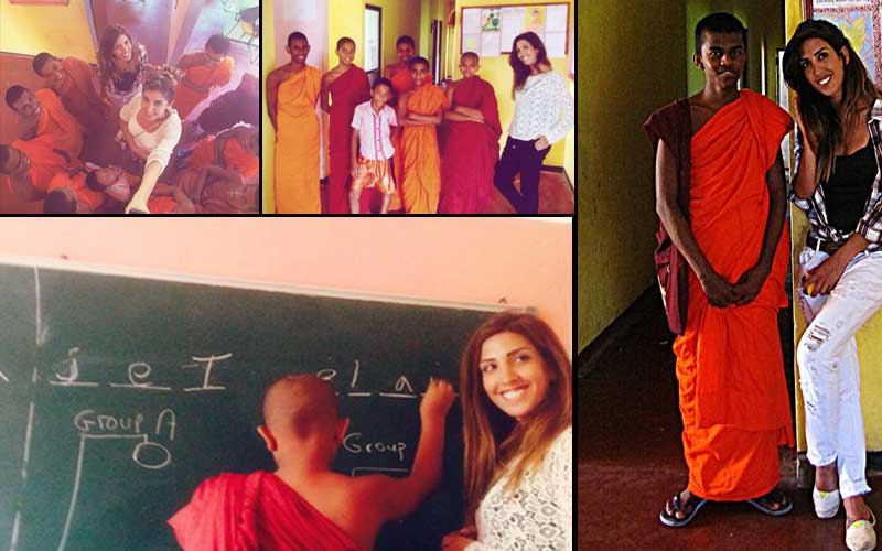 Teaching-monks-in-Srilanka-with-volunteering-solutions