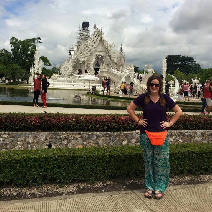 Caroline while volunteer in thailand-bangkok