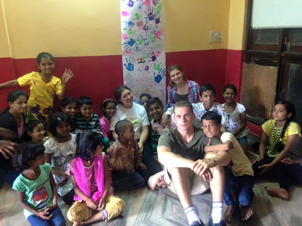 Street children volunteer work in India by Amy clough