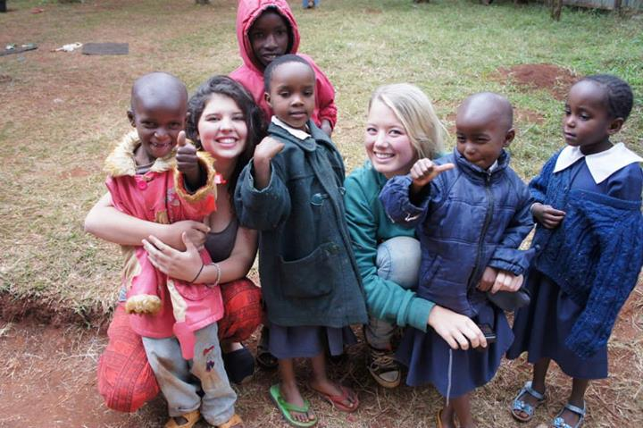 Alice Sommer & Michelle Koomen during summer volunteering in Kenya with volsol
