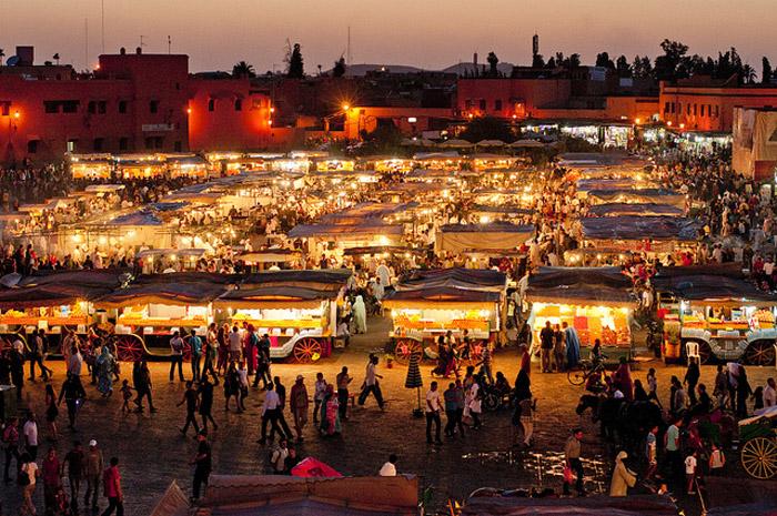 Djemaa el Fna in Marrakesh (Morocco)
