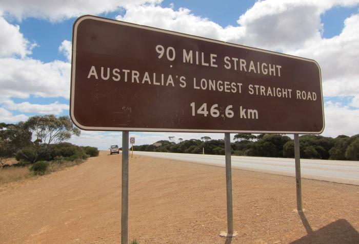Drive on Australia's longest straight road