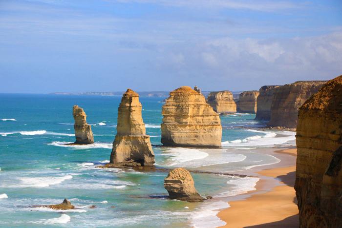 Visit the twelve apostles in Australia