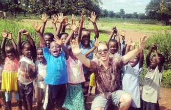 Ido Ishai volunteer in Orphanage Ghana