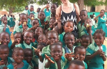 Vera Hellmold volunteer in Africa