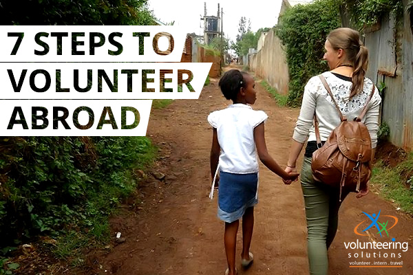 Steps to volunteer abroad