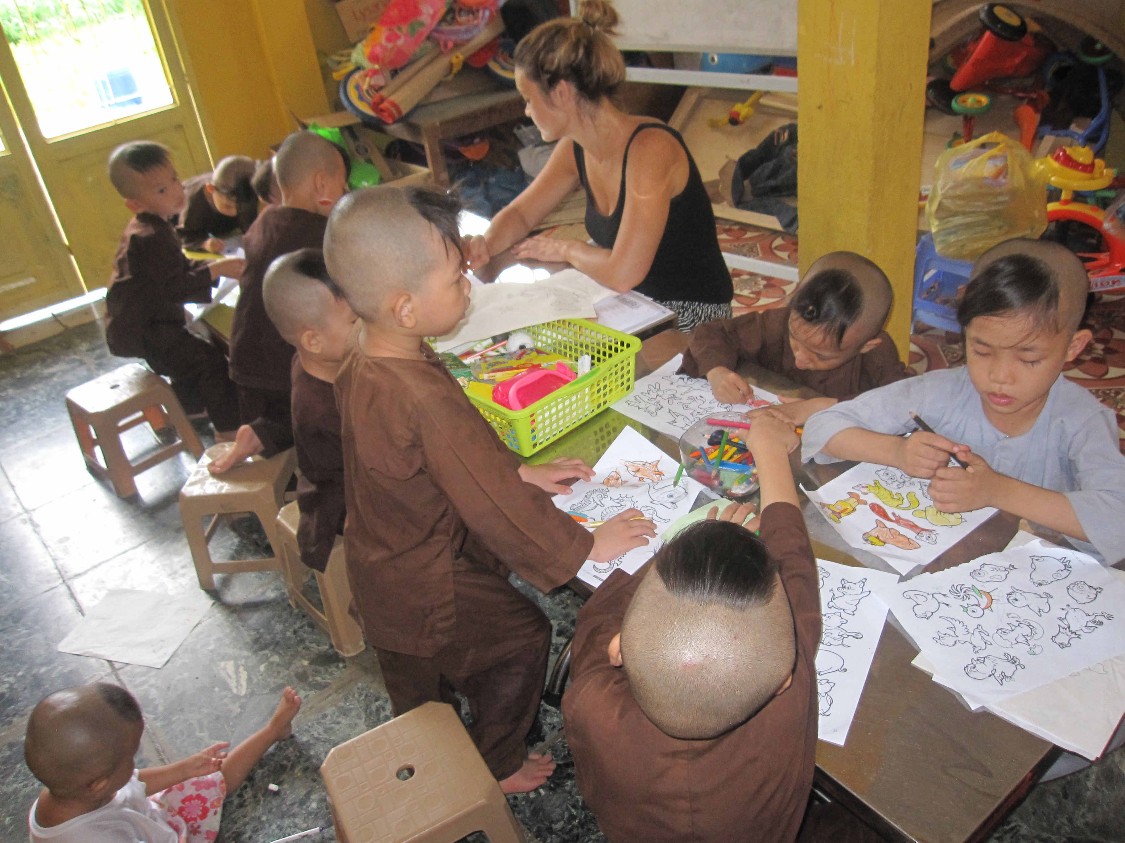 Childcare volunteer in vietnam