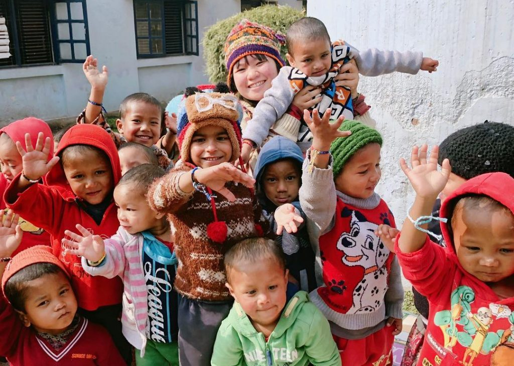 childcare volunteering in Nepal