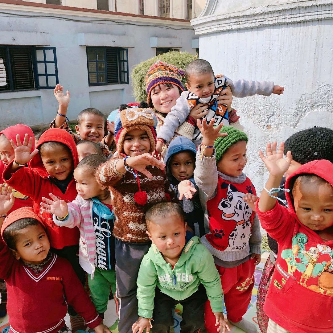 childcare volunteering in Nepal