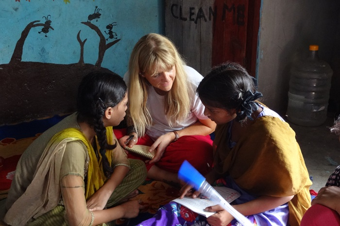Teaching volunteer work In india